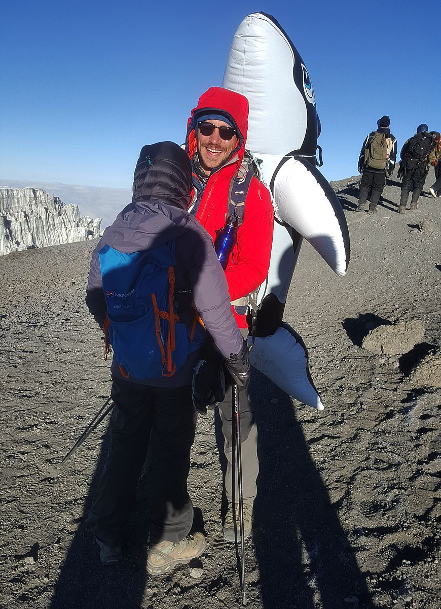 Ihar with whale to Uhuru Peak