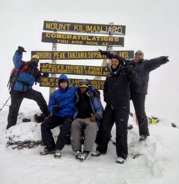 Uhuru Peak with Iwan and Raymond