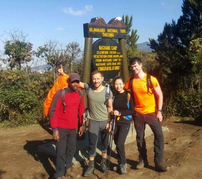 Ihar climb, start of machame route